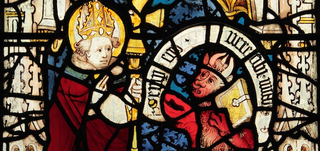 Scene from the St. Martin Window (c.1437) in St. Martin-le-Grand, York, England